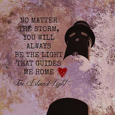 Fire Island Light House Poem Art Print by Brandi Fitzgerald