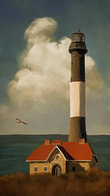 Linda King Digital Art - Fire Island Lighthouse 5939 by Linda King