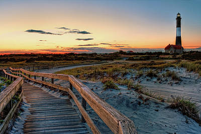 Fire Island Lighthouse At Robert Moses State Park Print by Jim Dohms