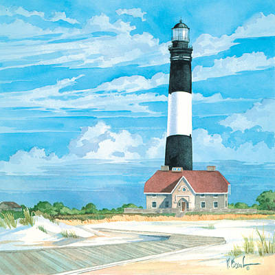 Lookout Painting - Fire Island Lighthouse by Paul Brent
