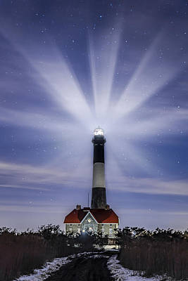 Ny Photograph - Fire Island Lighthouse Twilight by Susan Candelario