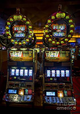 Fire Island Slot Machine At Lumiere Place Casino Art Print by David Oppenheimer