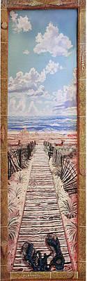Fire Island Walkway To The Beach Art Print by Bonnie Siracusa