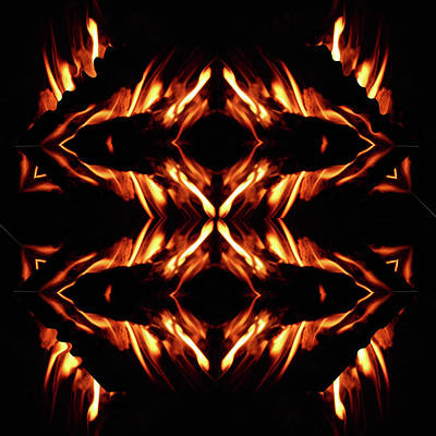 Mixed Media - Fire by Jesus Nicolas Castanon