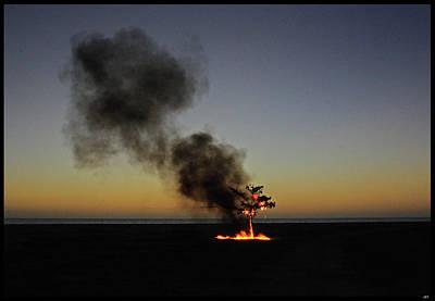 Photograph - Fire by Juan Trujillo