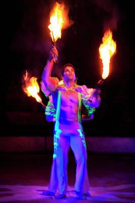 Photograph - Fire Juggler by Ron Morecraft