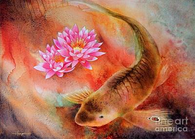 Painting - Fire Koi by Robert Hooper