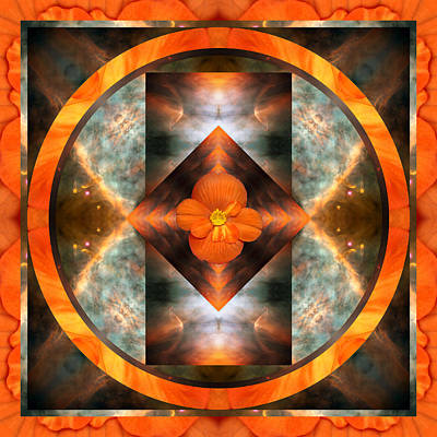 Spiritual. Geometric Photograph - Fire Light by Bell And Todd
