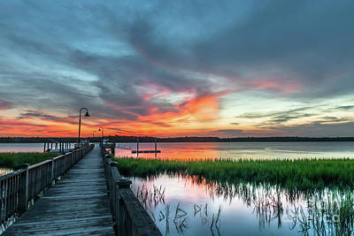 Photograph - Fire Light Sunset Burst by Dale Powell