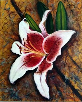 Lilium Bulbiferum Painting - Fire Lily by Zoltan Szabo