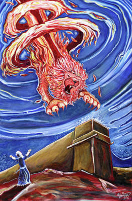 Painting - Fire Lion Alter by Yom Tov Blumenthal