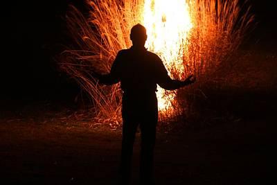 Photograph - Fire Man by Kathryn Meyer