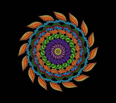 Digital Art - Fire Mandala by Becky Herrera