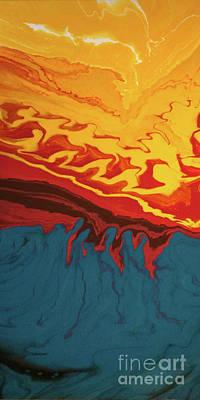 Digital Art - Fire Mountain by Lon Chaffin