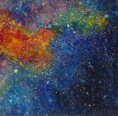 Wa Painting - Fire Nebula #2 by Adrienne Martino
