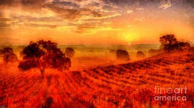 Winery Photograph - Fire Of A New Day by Edward Fielding