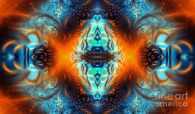 Geometric Artwork Digital Art - Fire Of Desire by Ian Mitchell