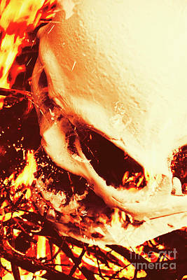 Bone Wall Art - Photograph - Fire Of Doom by Jorgo Photography - Wall Art Gallery