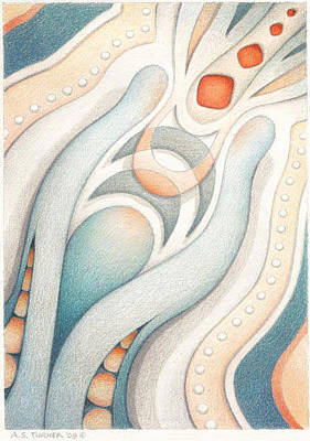 Muted Drawing - Fire Of Inspiration by Amy S Turner