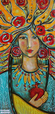 Visionary Painting - Fire Of The Spirit by Shiloh Sophia McCloud