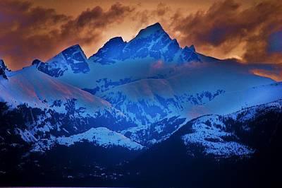 Alaskan Cruise Photograph - Fire On The Mountain by Helen Carson