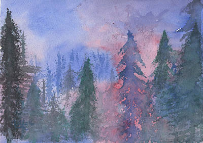 Painting - Fire On The Mountain by Victor Vosen