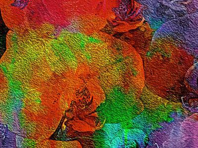 Digital Art - Fire Orchids by Lynda Lehmann