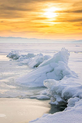 Photograph - Fire Over Ice by Dallas Golden