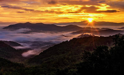 Photograph - Fire Over The Smokies by Andy Crawford