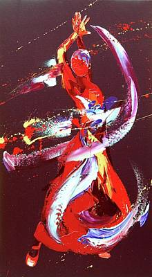 Exuberance Painting - Fire by Penny Warden