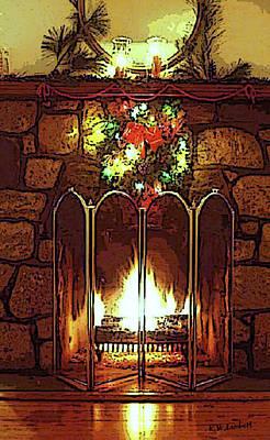 Fire Place Art Print by Kenneth Lambert