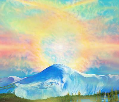 Fire Rainbow Over Alberta Peak Wolf Creek Colorado Original by Anastasia Savage Ealy