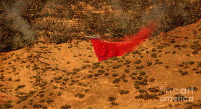 Photograph - Fire Retardant by Robert Bales