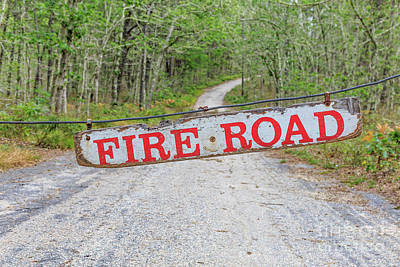 Photograph - Fire Road Sign by Edward Fielding