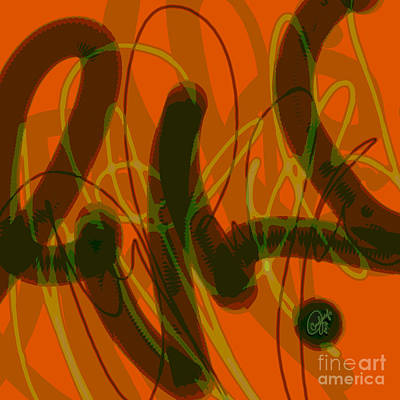 Abstract Digital Art - Fire Sign by Carol Jacobs