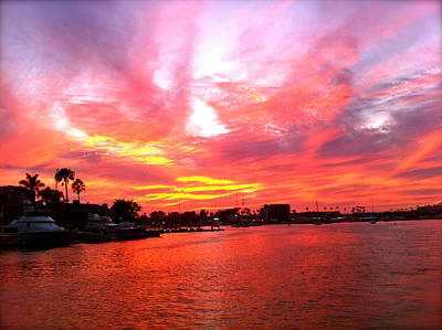 Beach Photograph - Fire Sky by Jon Berry OsoPorto