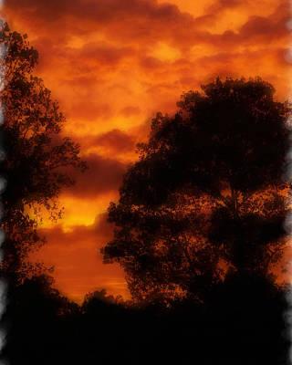 Fire Sky Art Print by Ken Gimmi