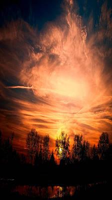 Photograph - Fire Sky by Philip A Swiderski Jr