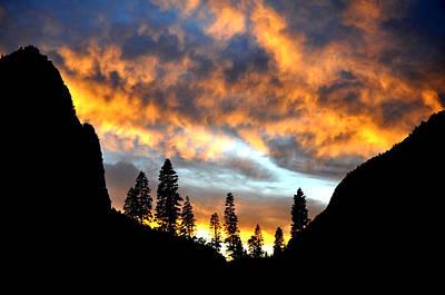 Yosemite National Park Digital Art - Fire Sky by Vijay Sharon Govender