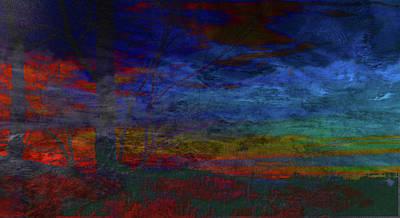 Mixed Media - Fire-smoke-embers by Mike Breau