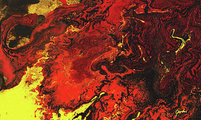 Painting - Fire Soul - Warm Tones Spiritual Abstract Painting by Modern Art Prints