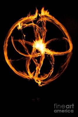 Fire Spinning Art Print by Darcy Evans