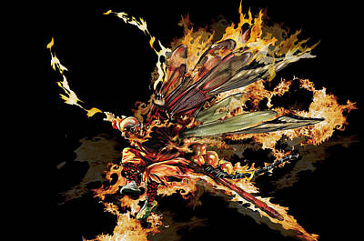 Digital Art - Fire Spirit 17 by Alma
