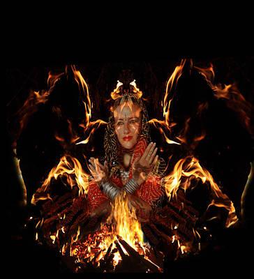 Digital Art - Fire Spirit 20 by Alma