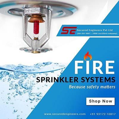 Fire Hydrant Mixed Media - Fire Sprinkler System by Ankur Kaplesh