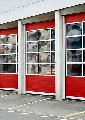 Photograph - Fire Station Abstract by Colleen Williams