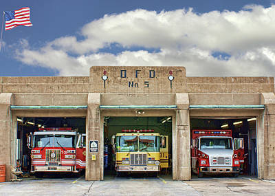 Photograph - Fire Station - Omaha Fire Department by Nikolyn McDonald