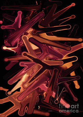 Isolated On Black Background Digital Art - Fire Stretch 1 by Prar Kulasekara