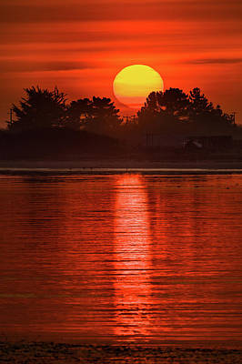 Photograph - Fire Sun Over Humboldt Bay by Greg Nyquist