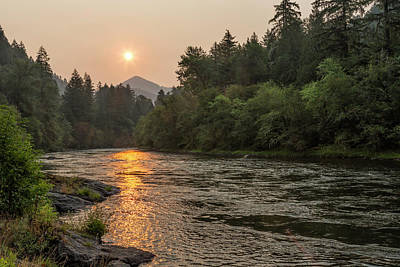 Photograph - Fire Sunrise On Mckenzie River by Belinda Greb